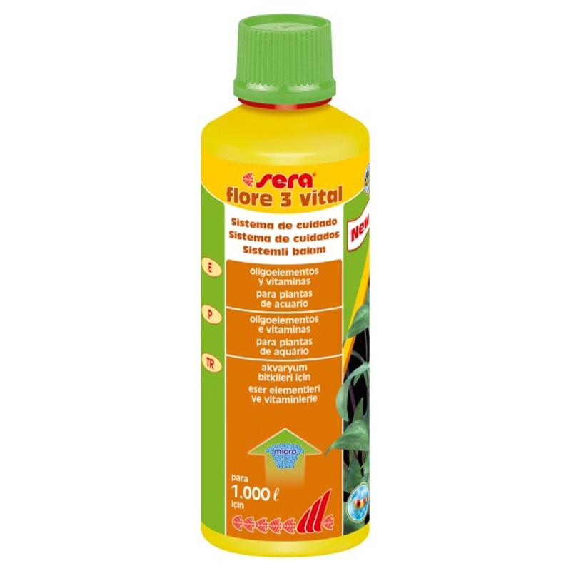 Tratamiento de agua para acuarios flore 3 vital animania - Tratamientos de agua ...