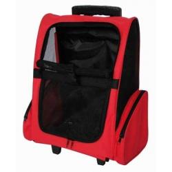 Transportín Mochila Trolly Roja para Mascotas