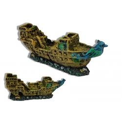 Barco Roto Decoración para Acuarios