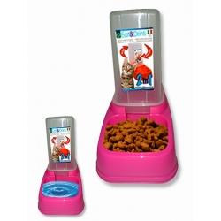 Comedero - Bebedero Tolva Plástico 2 Posiciones para Gatos