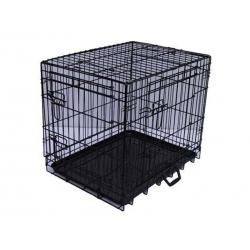 Jaula para Perros Plegable Negra